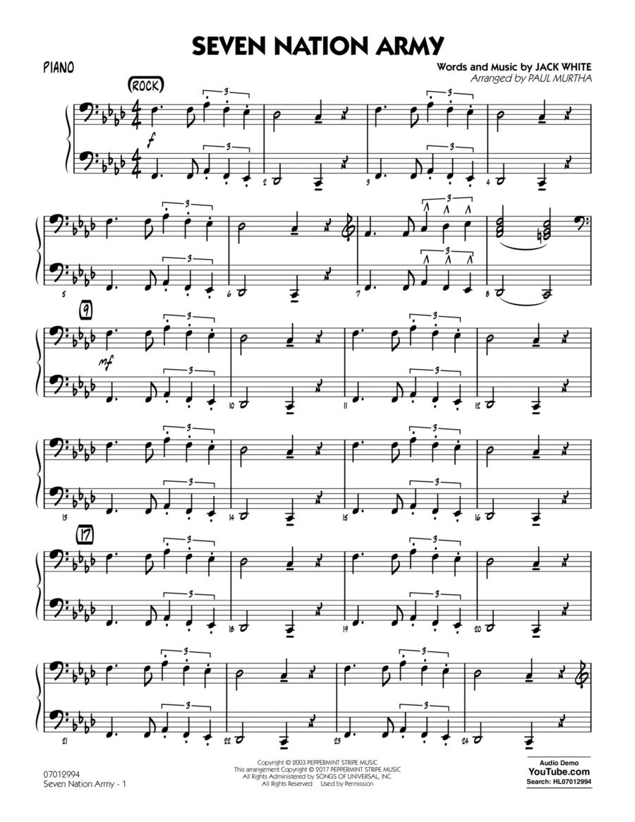 Seven Nation Army - Piano