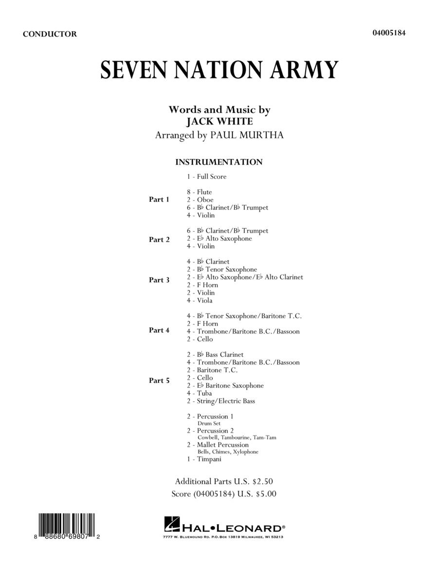 Seven Nation Army - Conductor Score (Full Score)