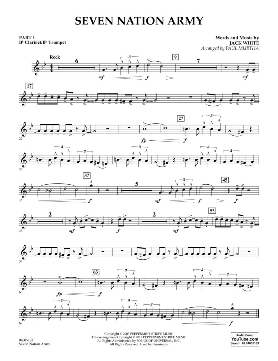 Seven Nation Army - Pt.1 - Bb Clarinet/Bb Trumpet