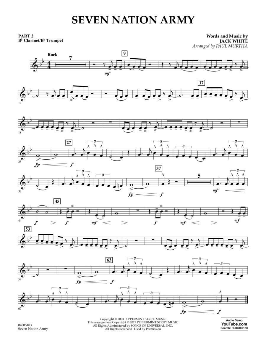 Seven Nation Army - Pt.2 - Bb Clarinet/Bb Trumpet