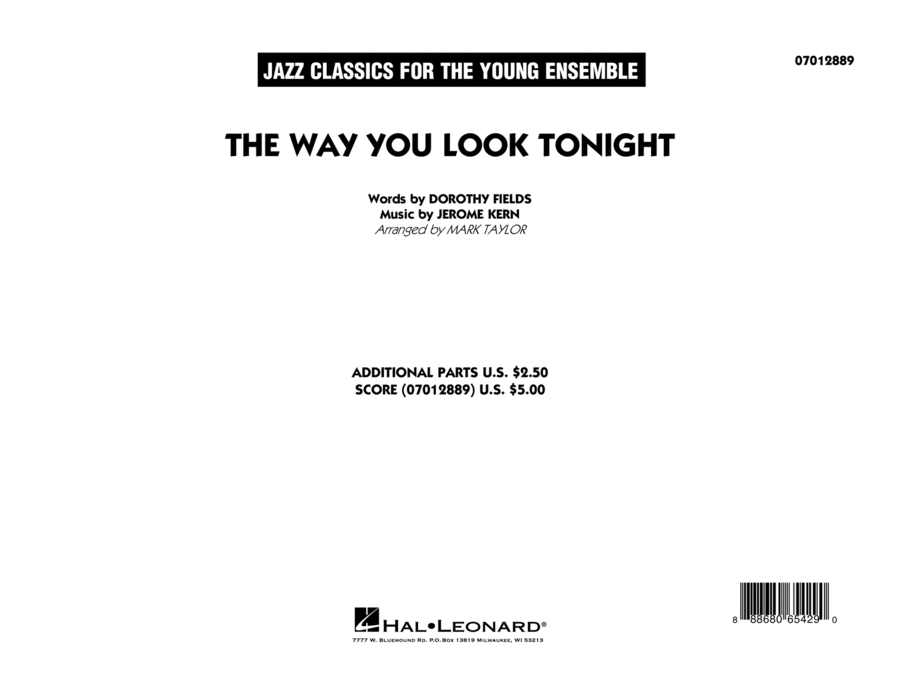 The Way You Look Tonight - Conductor Score (Full Score)