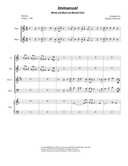 Immanuel (for Woodwind Quartet)