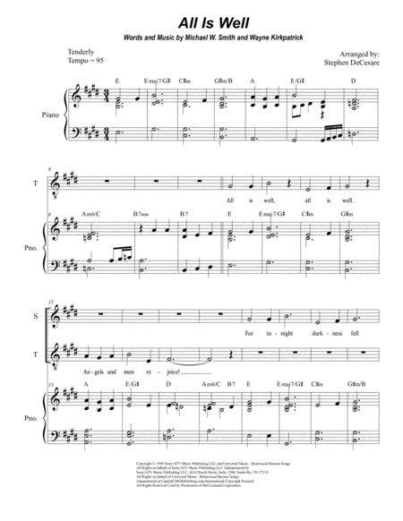 All Is Well (Duet for Soprano and Tenor Solo)