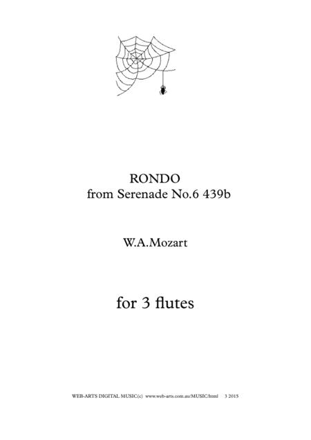 MOZART RONDO for 3 flutes from Serenade No.6 k439b