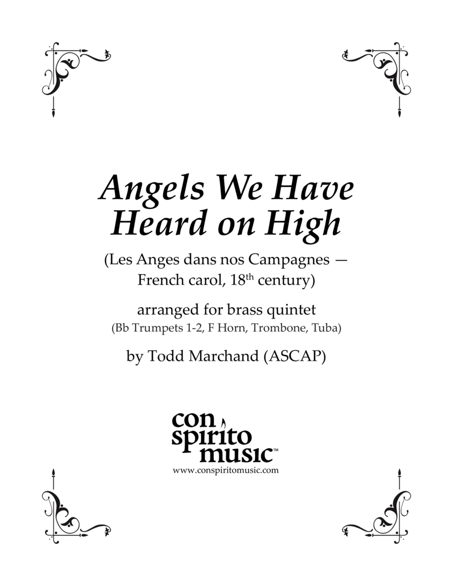 Angels We Have Heard on High - brass quintet
