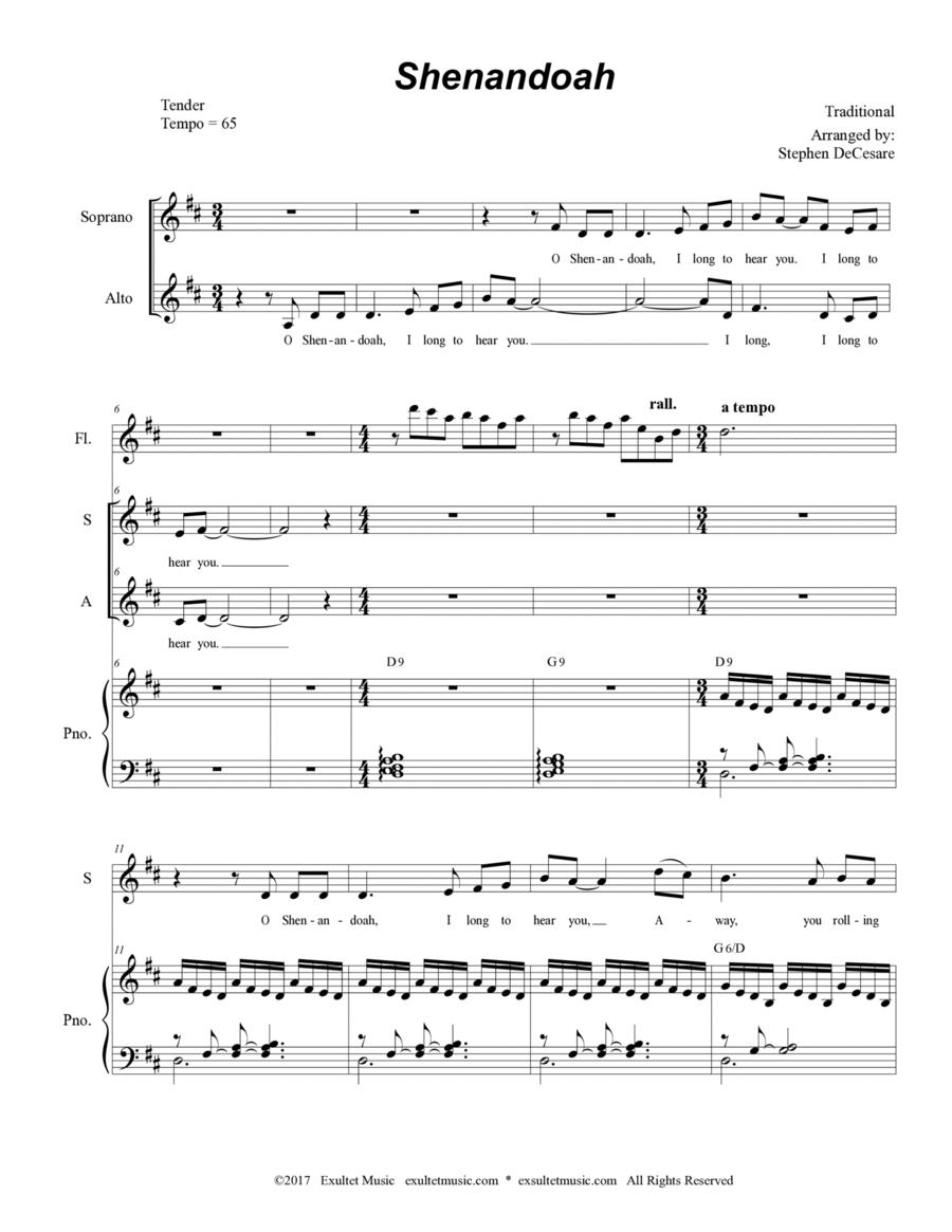 Shenandoah (Duet for Soprano and Alto Solo)