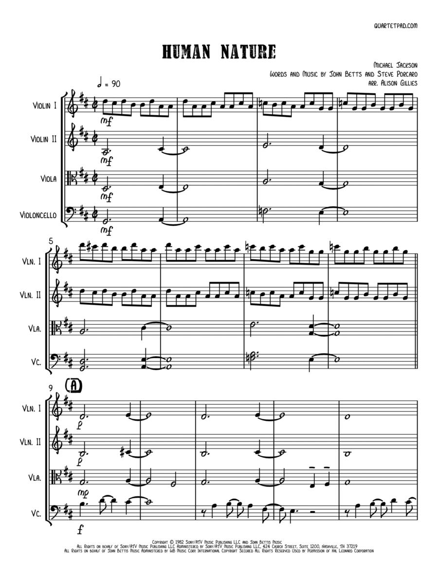 Human Nature - String Quartet