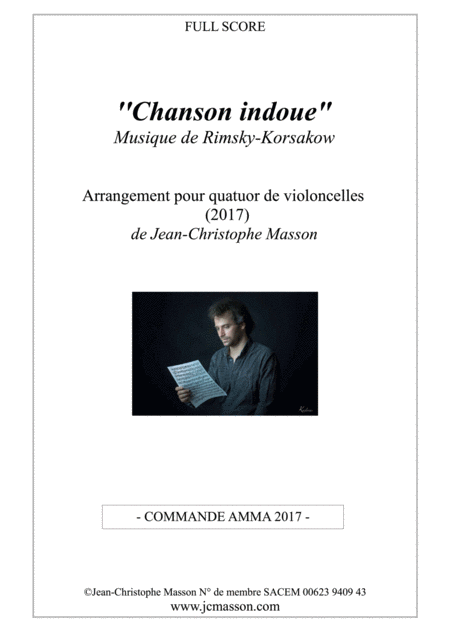Chanson indoue Rimsky Korsakow for 4 celli --- score and parts --- JCM 2017
