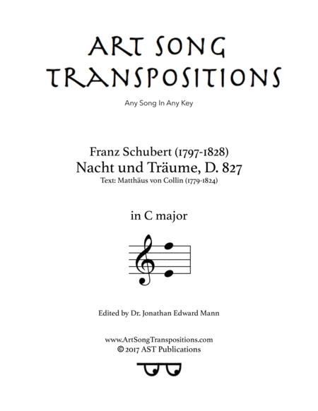 Nacht und Träume, D. 827 (C major)
