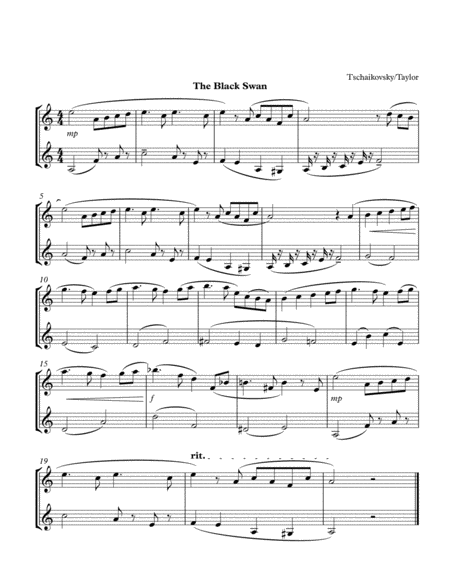 The Black Swan (2 Clarinets)