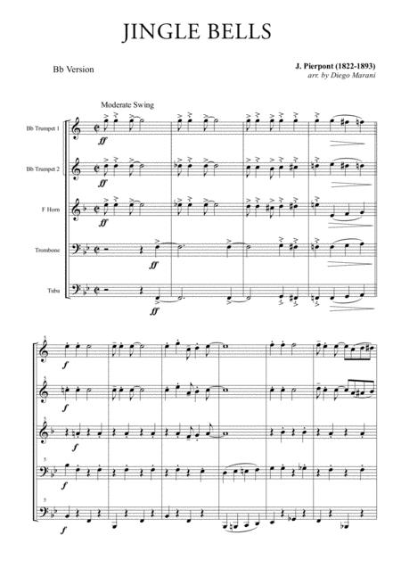 Jingle Bells for Brass Quintet