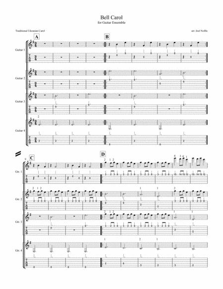 Bell Carol (for Guitar Ensemble)