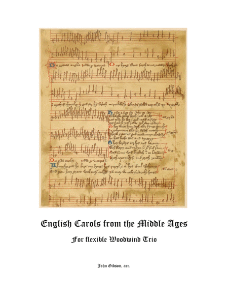 English Carols from the Middle Ages - flexible woodwind trio