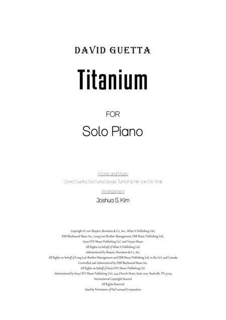 Titanium for Solo Piano (Early Intermediate)
