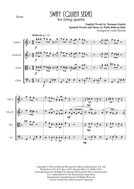 Sway for String Quartet