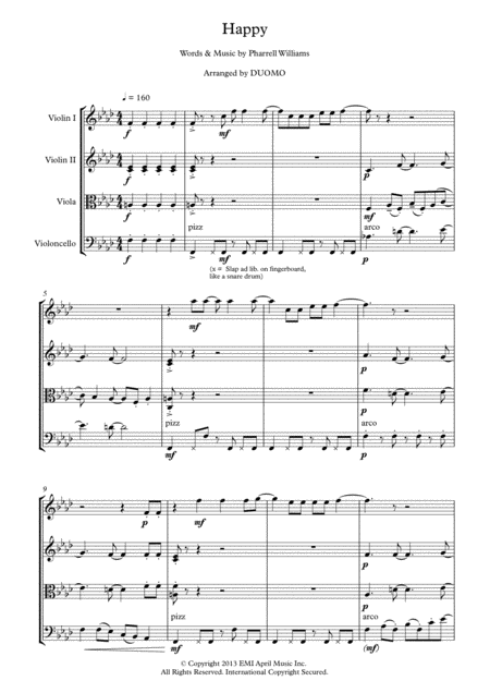Pharrell Williams - Happy (String Quartet)