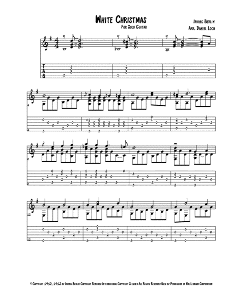 White Christmas for Solo Guitar