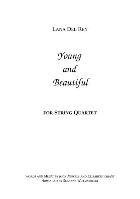 Young And Beautiful (String Quartet)