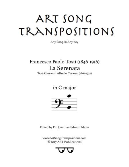 La Serenata (C major, bass clef)