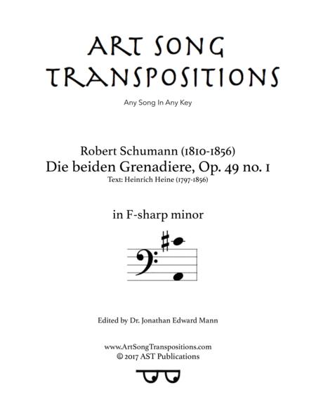 Die beiden Grenadiere, Op. 49 no. 1 (F-sharp minor, bass clef)