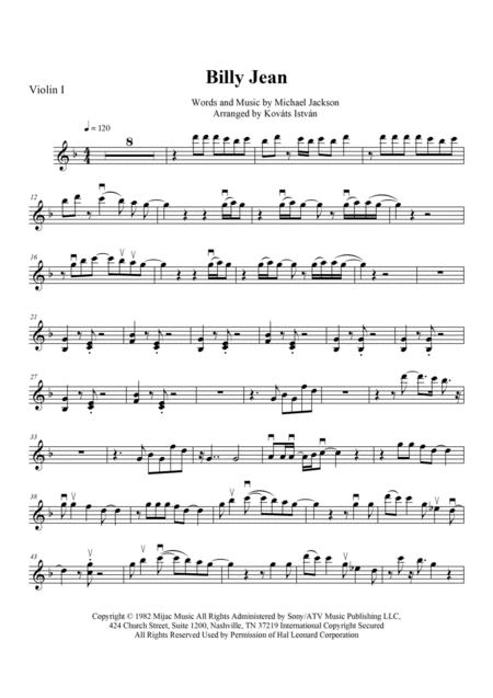 Billie Jean for String Quartet