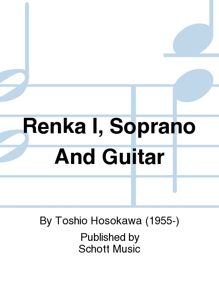 Renka I, Soprano And Guitar