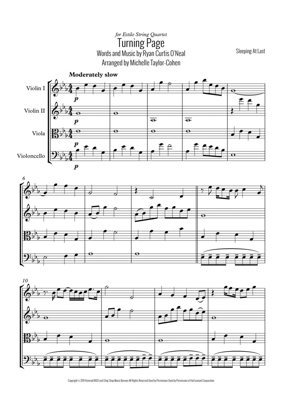 Turning Page (String Quartet)