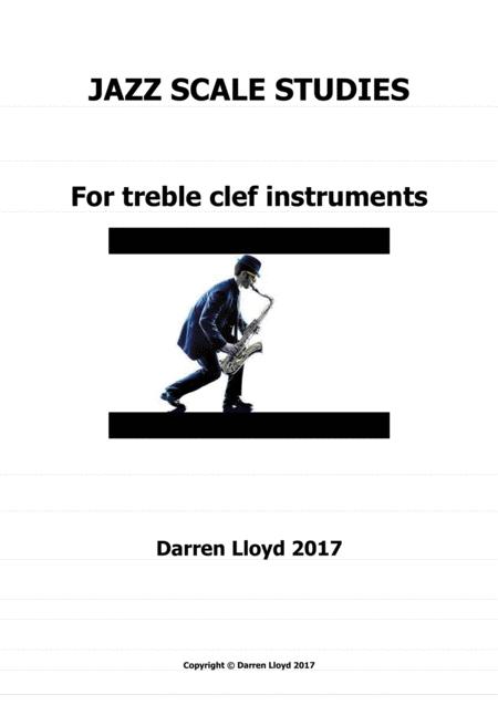 Jazz scale studies for treble clef instruments