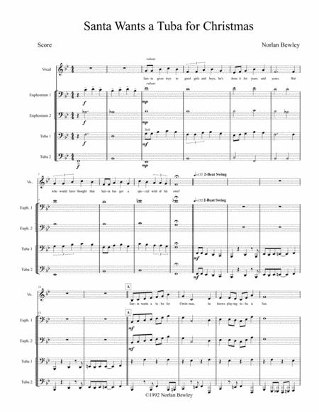 Santa Wants A Tuba For Christmas - Tuba/Euphonium Quartet