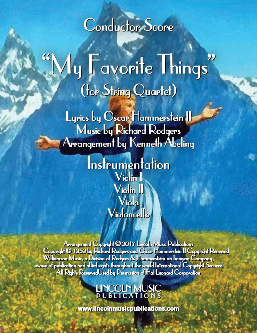 My Favorite Things (for String Quartet)