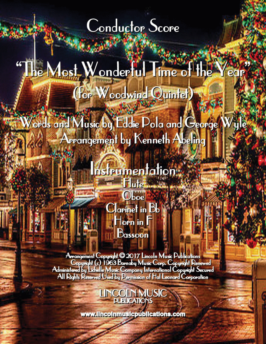 The Most Wonderful Time of the Year (for Woodwind Quintet)