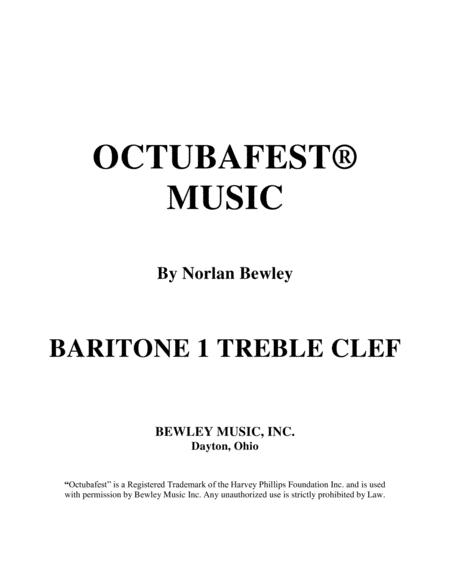 Octubafest Baritone 1 Treble Clef Part Book - Tuba/Euphonium Quartet