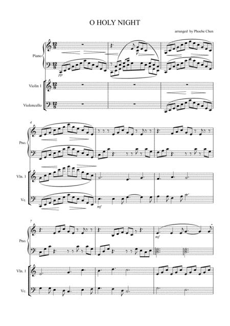 O Holy night ( trio for piano, violin and cello )