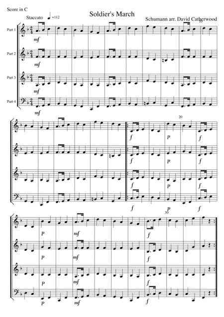 Soldiers' March by Schumann