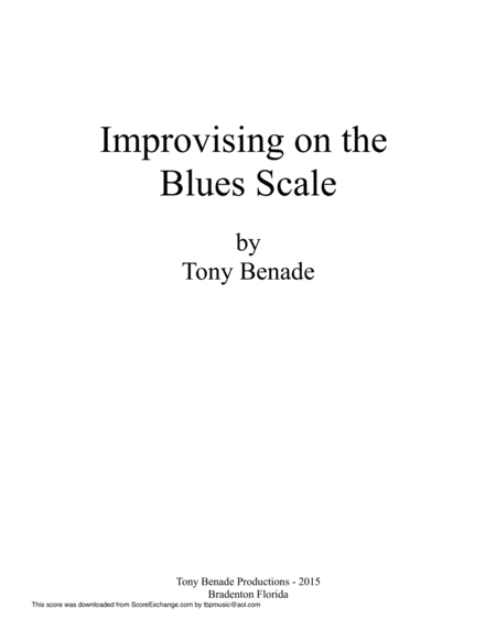 Improvising on the Blues Scale