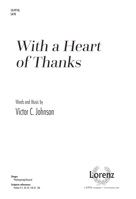 With a Heart of Thanks