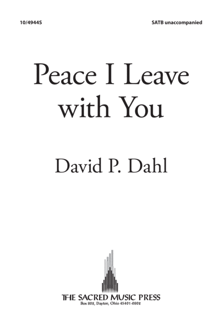 Peace I Leave With You