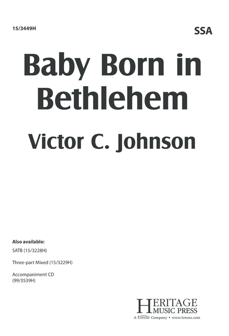 Baby Born in Bethlehem