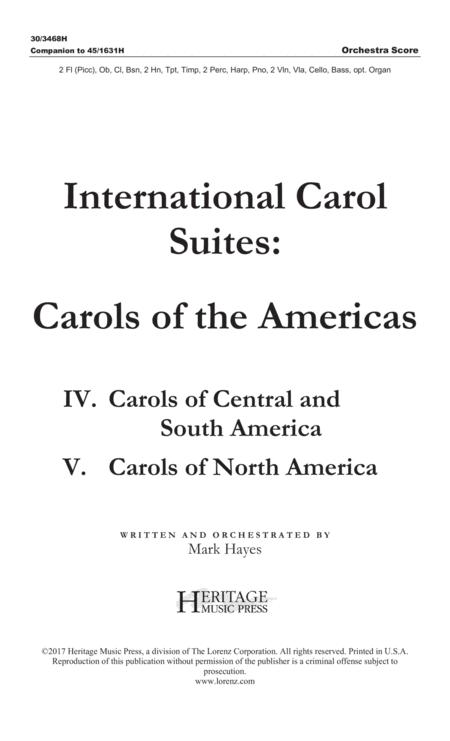 International Carol Suites: Carols of the Americas - Orchestra Score