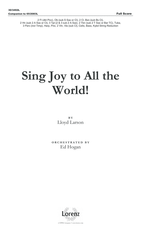 Sing Joy to All the World! - Full Score