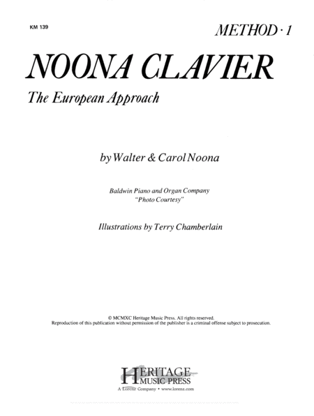 Noona Clavier Method Book 1