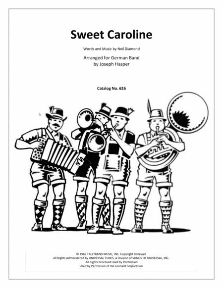 Sweet Caroline (for German Band)