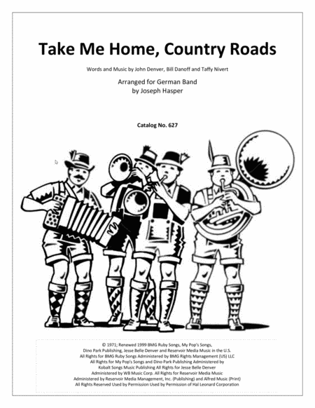 Take Me Home, Country Roads (for German Band)