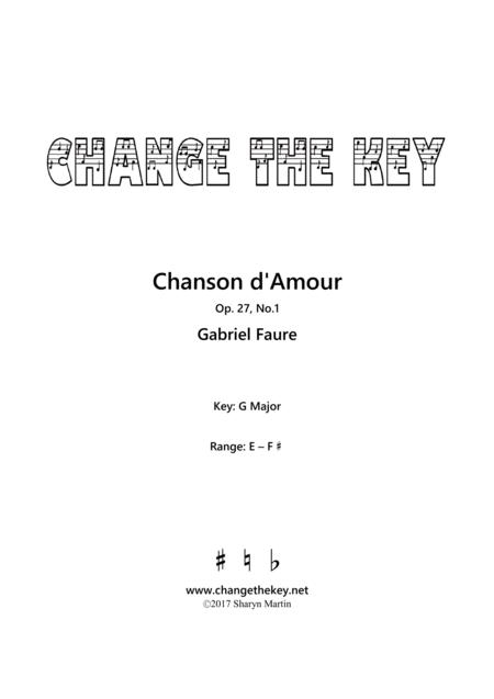 Chanson d'Amour - G Major