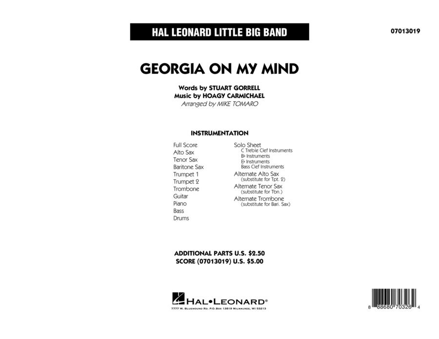 Georgia on My Mind - Full Score