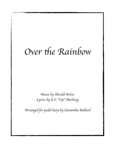 Over The Rainbow (from The Wizard Of Oz) - Harp Solo