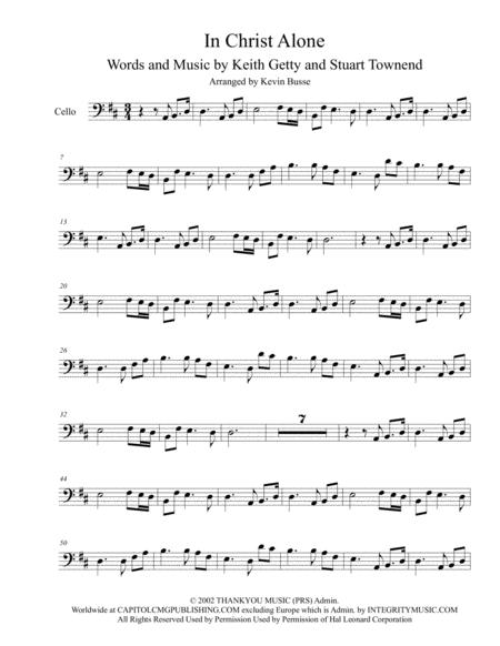 In Christ Alone - Cello