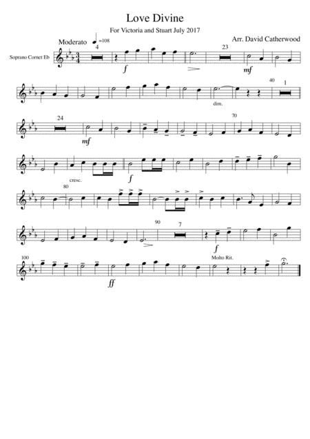 Hymn tune arrangement - Love Divine (Blaenwern)
