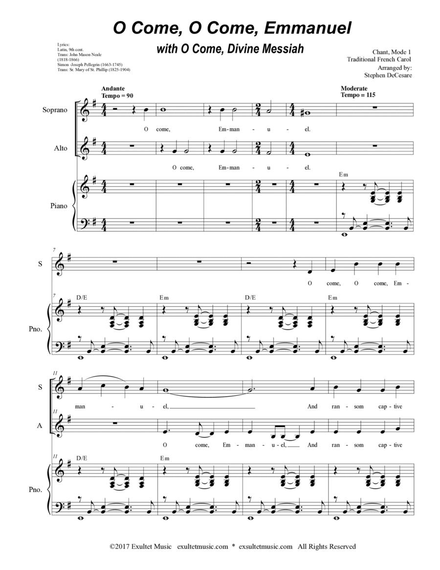 O Come, O Come, Emmanuel with O Come, Divine Messiah (Duet for Soprano and Alto Solo)