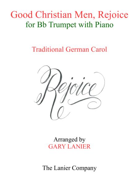GOOD CHRISTIAN MEN, REJOICE (Bb Trumpet with Piano & Score/Part)